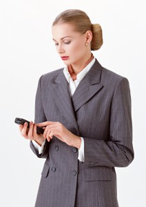 девушка с телефоном, деловая девушка