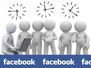 время на facebook