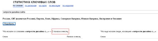Сервис статистики ключевых слов Wordstat Yandex